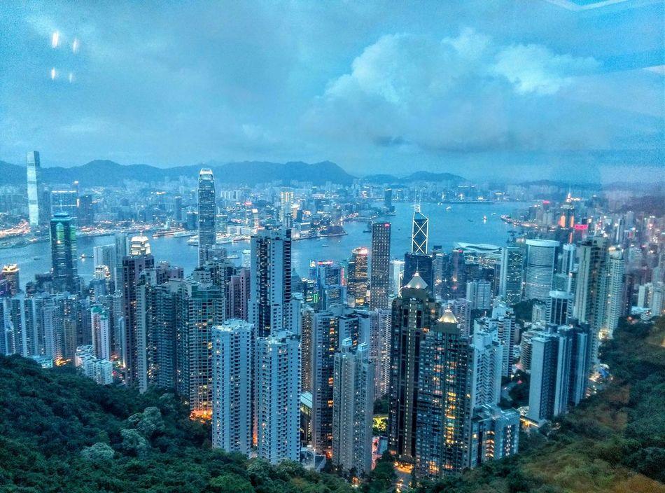 At The Peak Twilight Time Hong Kong