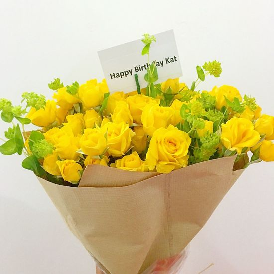 Thank you mahal!😘😘 Loveyou!🎉 Flower Yellow Birthday Flowers Bouquet Happy Birthday! Happy Birthday To Me!! Happy