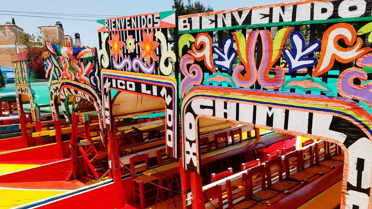 Multi Colored Mexicocity  Xochimilco Descubre Mexico Colorful No People Day