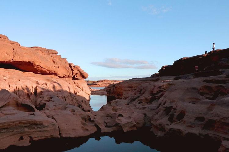 Rock - Object Landscape Rock Formation Geology Sand Scenics Nature Outdoors No People Beach Power In Nature Sky Day Sampunboke สามพันโบก ในความทรงจำ  สามพันโบก Beauty In Nature