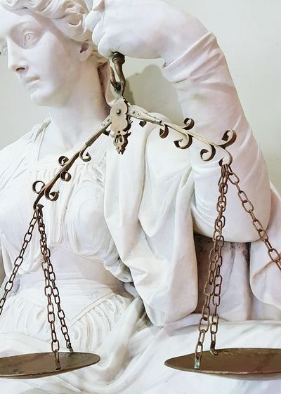 justice Statue Necklace Jewelry Beauty Indoors  One Person Adults Only Wedding Dress One Woman Only Adult law Legal People Day scales of justice Marble