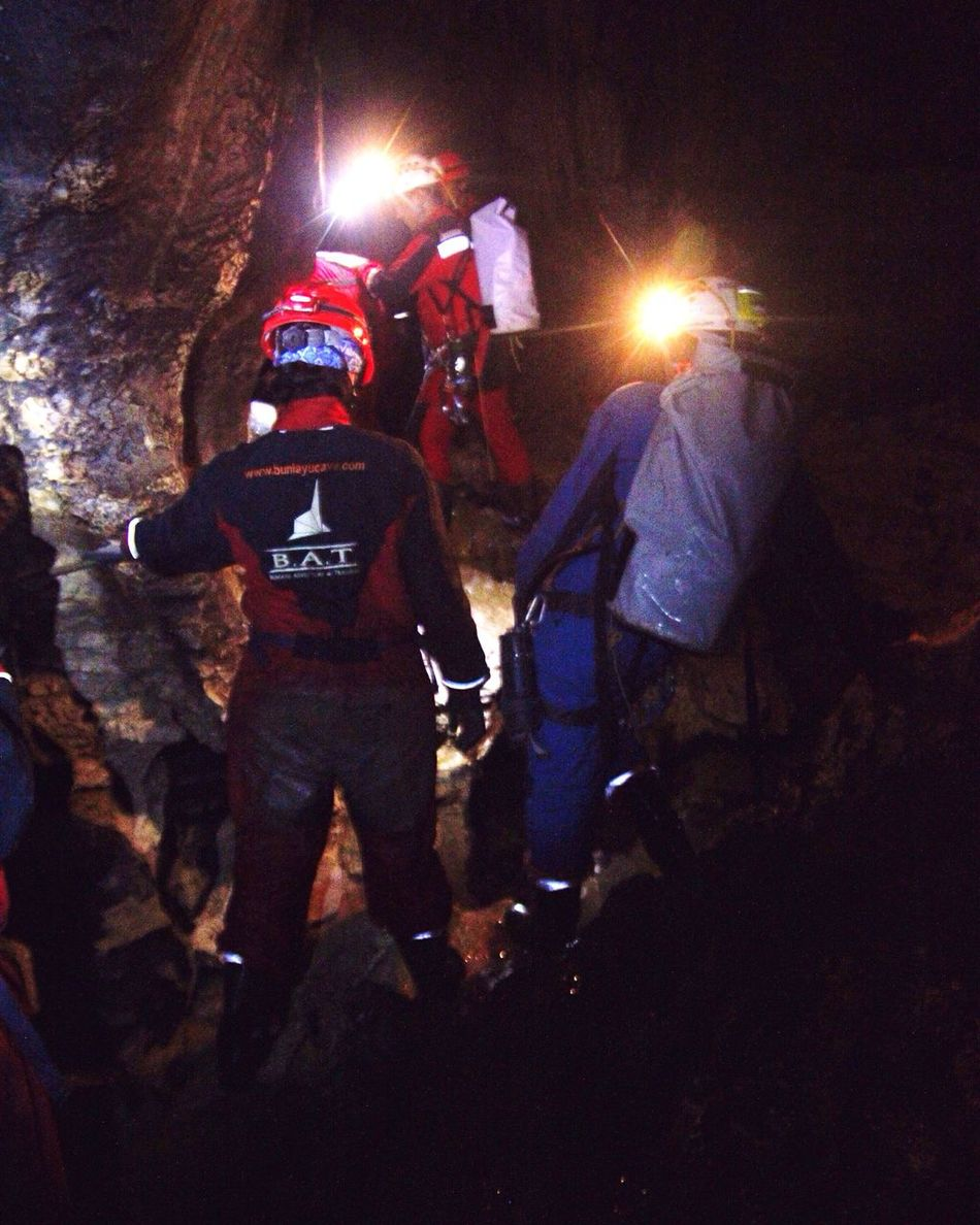 When we find a big hole deep inside the earth, how do we cross the hole? | me on back Extremesport Caving Deepcave Nature