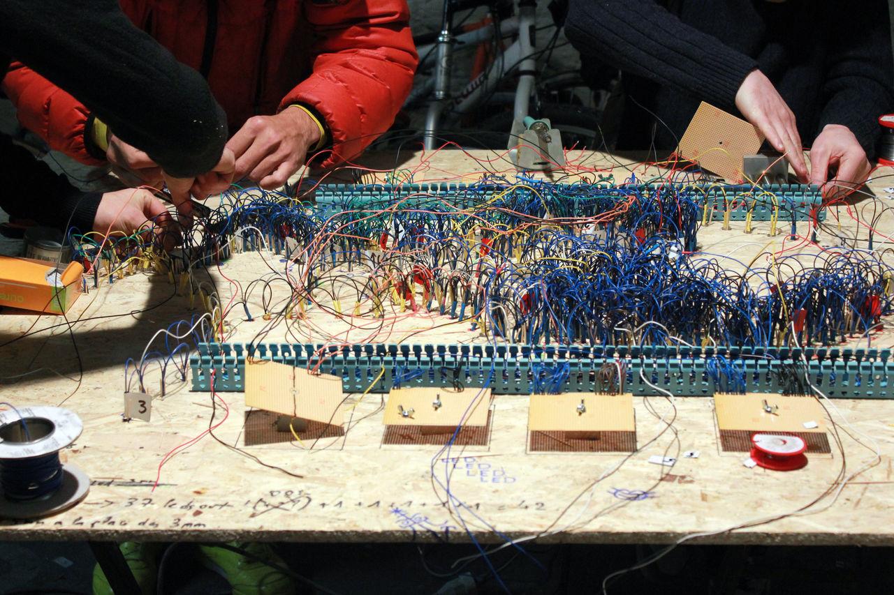 Colaboration Connection Handmade Handwork Led Lights  Maker Skill  Wire