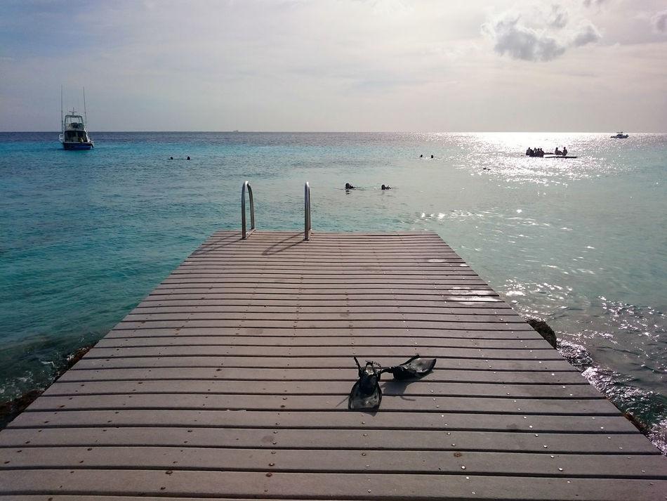 Beauty In Nature Curacao Dutch Carribean Landing Stage Outdoors Paths Playa Porto Mari Scenics Sea Steg