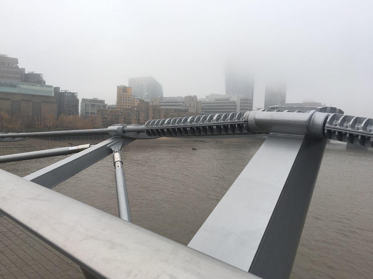 Architecture Bridge - Man Made Structure Built Structure City Cityscape Day Fog Millenium Bridge No People Outdoors River Thames Sky Urban Skyline Water
