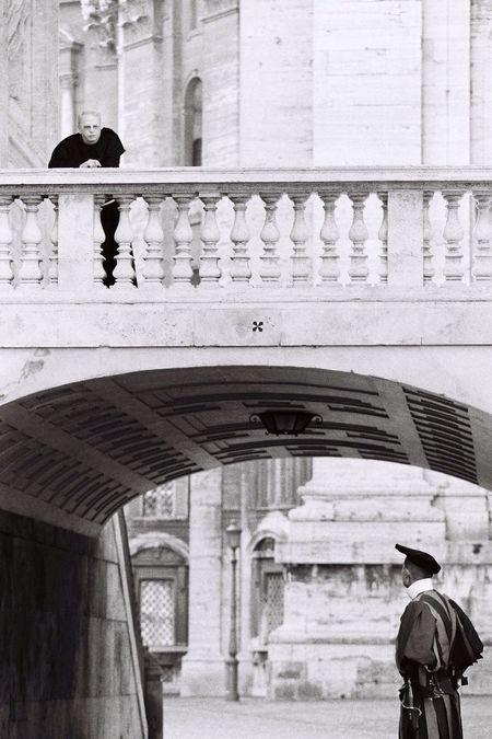 Vatican VaticanCity Blackandwhite The Street Photographer - 2016 EyeEm Awards Swiss Guard Priest Bridge Arquitecture Chatting