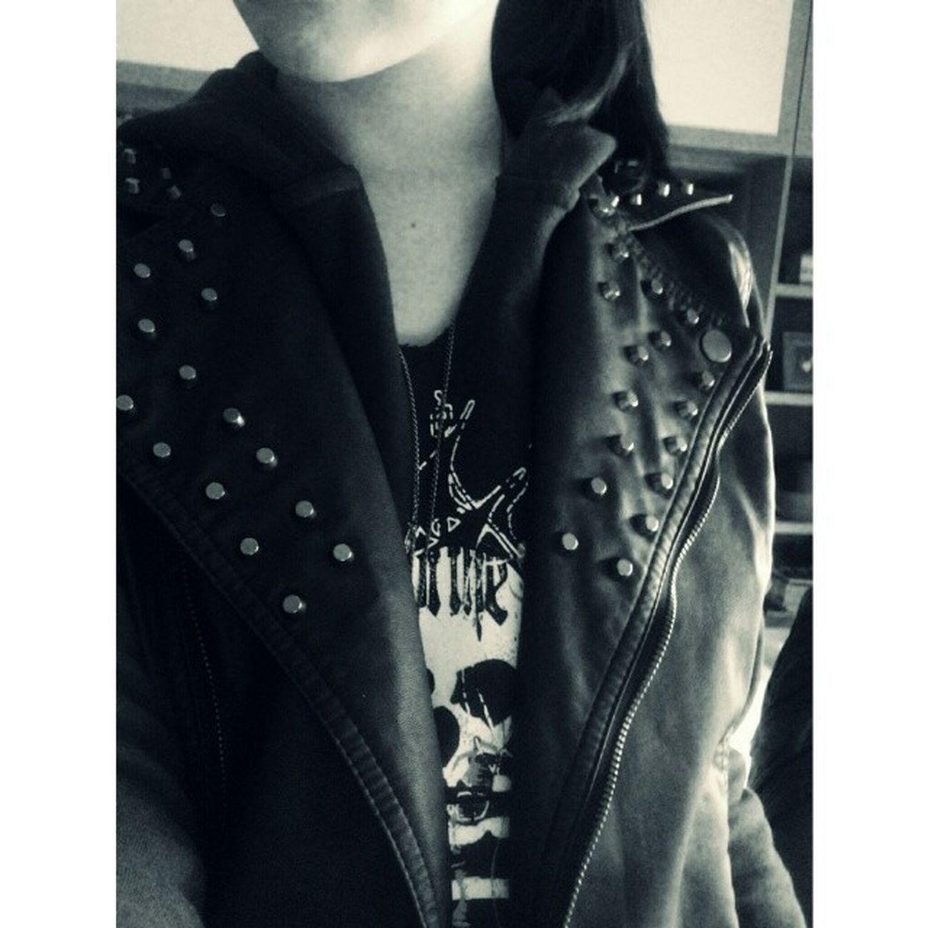 'bora lá recordar a adolescência Blackleathervest Sweatshirt Hoodie Spikes Skull