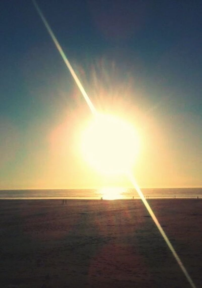 WestCoast Beach Life Sun On Fire Bright_and_bold Sunset