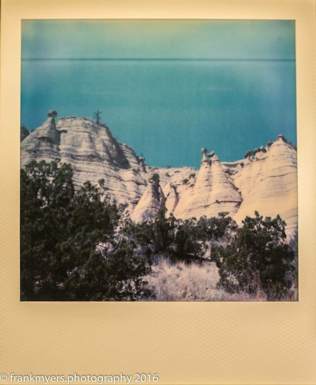 Transfer Print Auto Post Production Filter Tranquil Scene Scenics Tranquility Impossible Project Desert Landscape New Mexico Tree Mountain Idyllic Remote Nature Majestic Rock Formation Non-urban Scene Solitude Geology Outdoors Sea Physical Geography Day Cliff