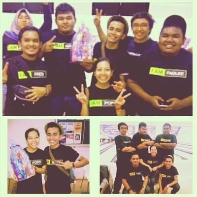 Yeahhhh!!! Our team got the second place in bowling tournament that happened tonight. Congrates korg Bery Amir Abgzul Paly hanif