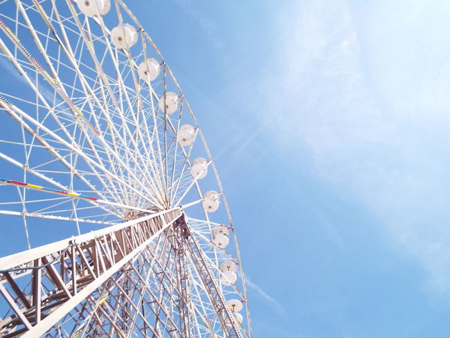Blue Sky Blackpool Central Pier Central Pier Big Wheel Ferris Wheel Blue White The Essence Of Summer Tourist Attraction  Tourism Summertime Summer 2016