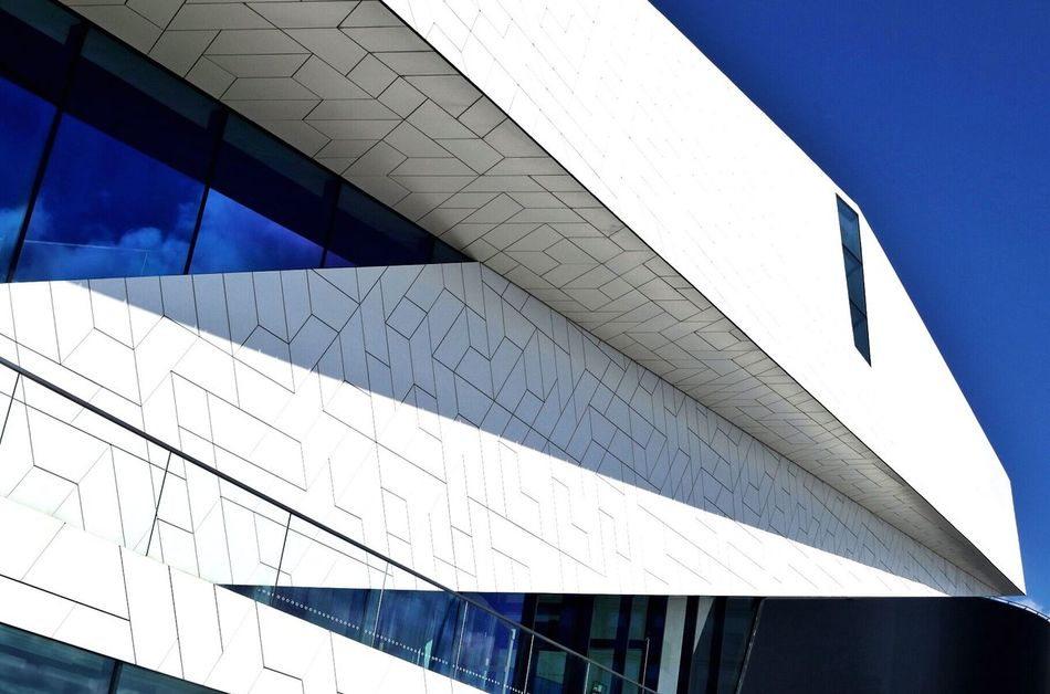 Architecture Low Angle View Built Structure Modern Day No People Building Exterior Outdoors Sky Modern Building Modern Architecture Clear Sky Skyscraper Cloud - Sky Modern Architecture City Blue Low Angle View Modern Archictecture