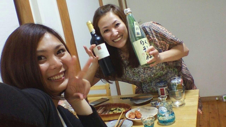 宅飲み 女子会♡ Wine 日本酒バンザイ全部飲んでしまったぁ~ww楽しすぎたッッ Happy GirlsNight