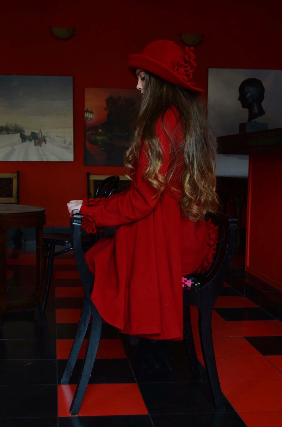 Adinafrasinphotography Photography Photoshoot Beautiful Model Fashion Photography Modeling Girlmodel Red Fashion Longhair Curlyhair Beauty