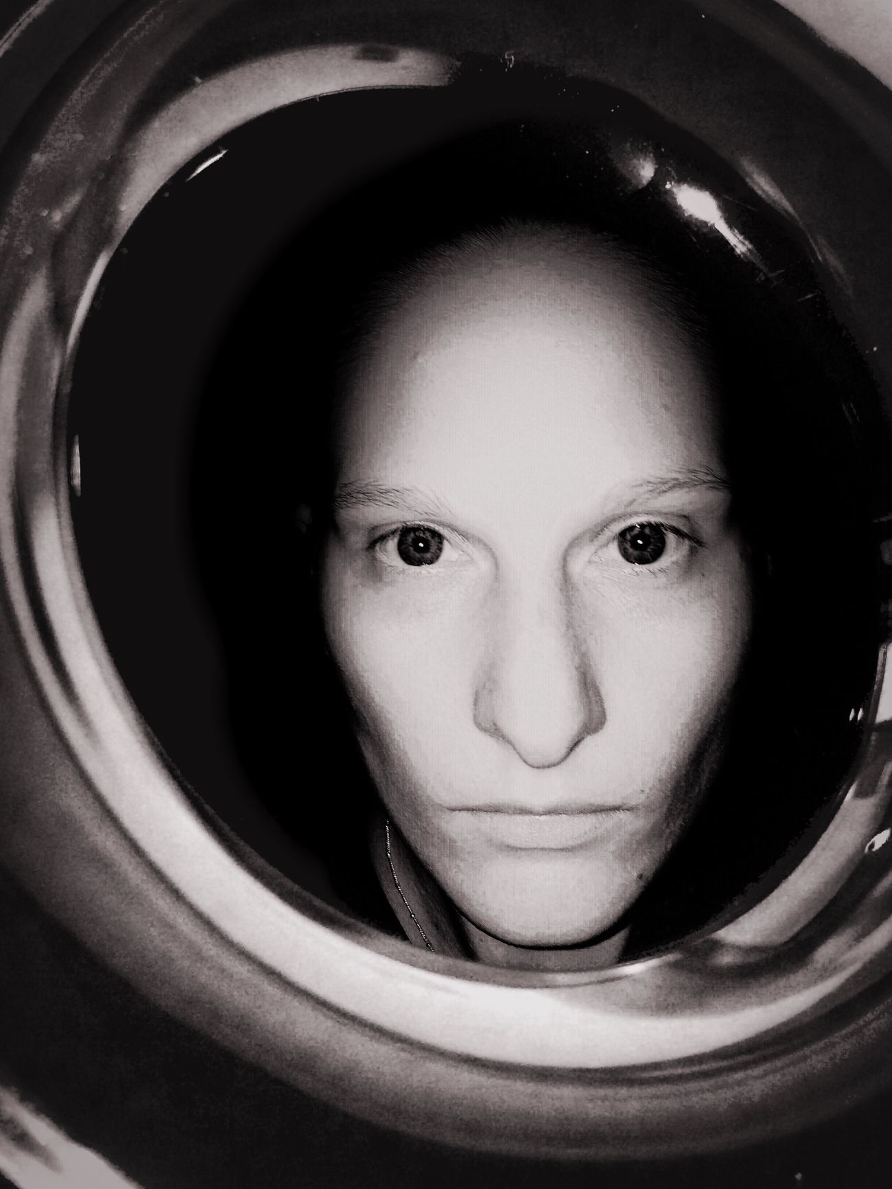Self Portrait Portrait Female Iphonography Iphoneonly Blackandwhite Future Face Alien Direct View Different Newstyle The Potraitist - 2016 EyeEm Awards