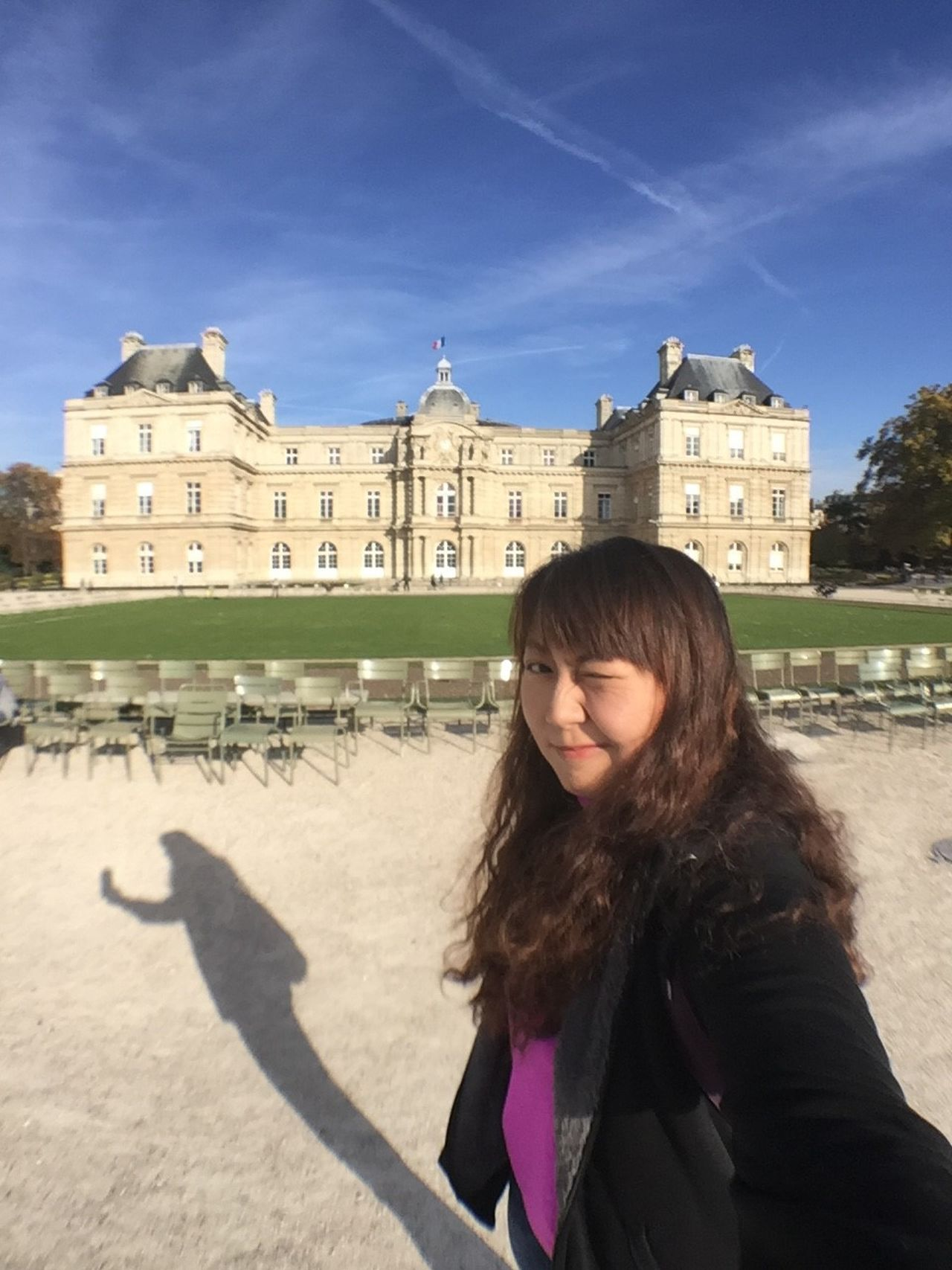 MeMyself at Luxembourg Garden, Paris, France One Person Young Women Young Adult Architecture Building Exterior The Portraitist - 2017 EyeEm Awards Travel Destinations Long Hair Portrait Adult Vacations Outdoors One Young Woman Only Only Women Sky Neighborhood Map EyeEmNewHere CaptureTheMoment Goodmemories Smile Is The Best Make-up A Girl Can Wear Wink Shadow Selfie