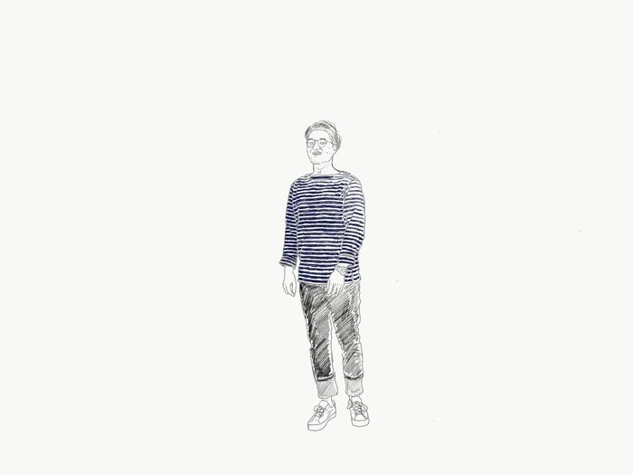 Draw On Ipad Full Length Studio Shot One Person White Background Adults Only Only Men People