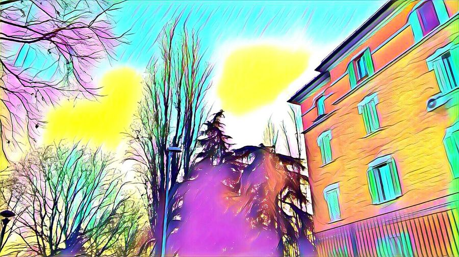Multi Colored Built Structure Low Angle View Building Exterior Outdoors Architecture Sky Day Italy 2016 December Newfrontier Fantasia