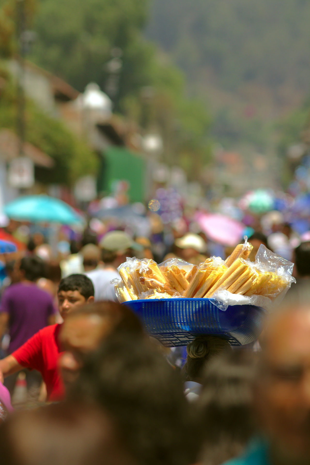 Churros Crowd Day Fine Art Photography Food For Sale Large Group Of People Market Men Outdoors People Real People Salesman Still Life Street Street Photography Street Sales Travel Destinations Travel Photography Unbrella Urban Exploration Urban Photography Western Guatemala