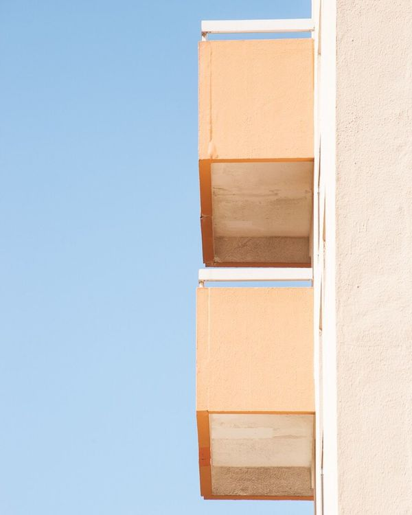 Architecture Built Structure Building Exterior Day Outdoors Blue Clear Sky No People Geometric Shape Photography Fine Art Photography Contemporary Art Minimalism Abstract Graphic Shape Pastel Power