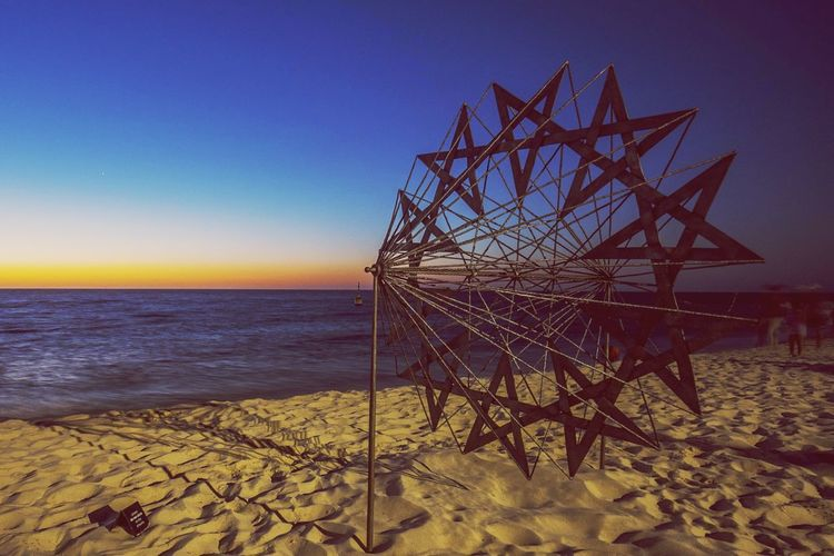 Sunset at Cottlesloe Beach , Perth Australia during Sculpture By The Sea 2015