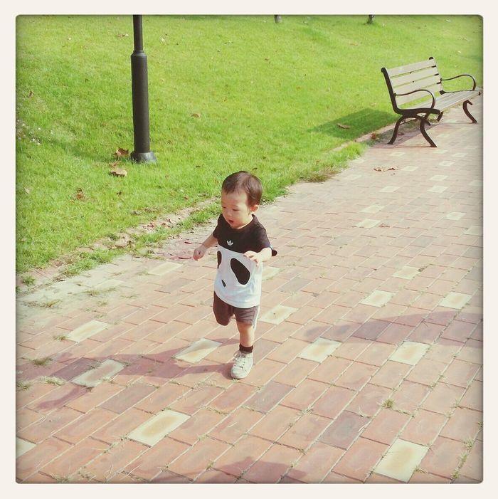 Baby run Enjoying Life