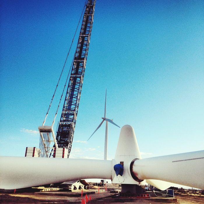 Wind Turbine Construction Texas
