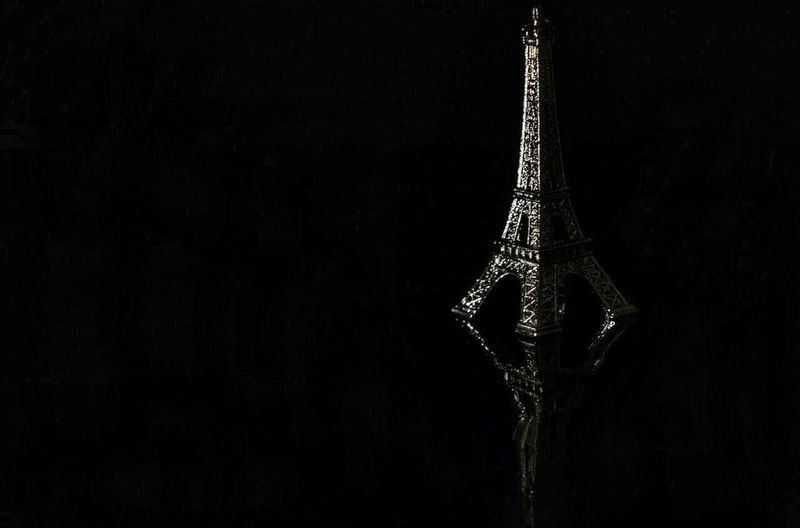 S2 Black Background No People Close-up Hanging Indoors  Studio Shot Christmas Christmas Decoration Night Paris France World Building Exterior Urban Skyline