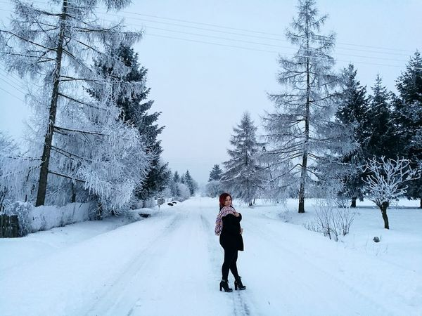 Winter Snow Cold Temperature Tree Nature One Person People Adults Only Beautiful Woman Beautiful People Landscape Day Looking At Camera Passion Frozen Lovely Day Misterious Glorious Moment HuaweiP9 Our Best Pics