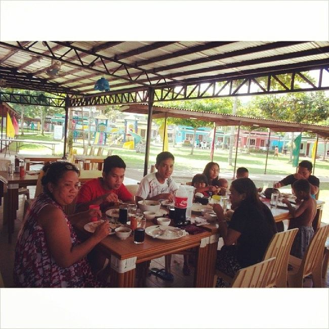 Happy Lunch with my family Summer2014 Campholiday Aftergrad 33114