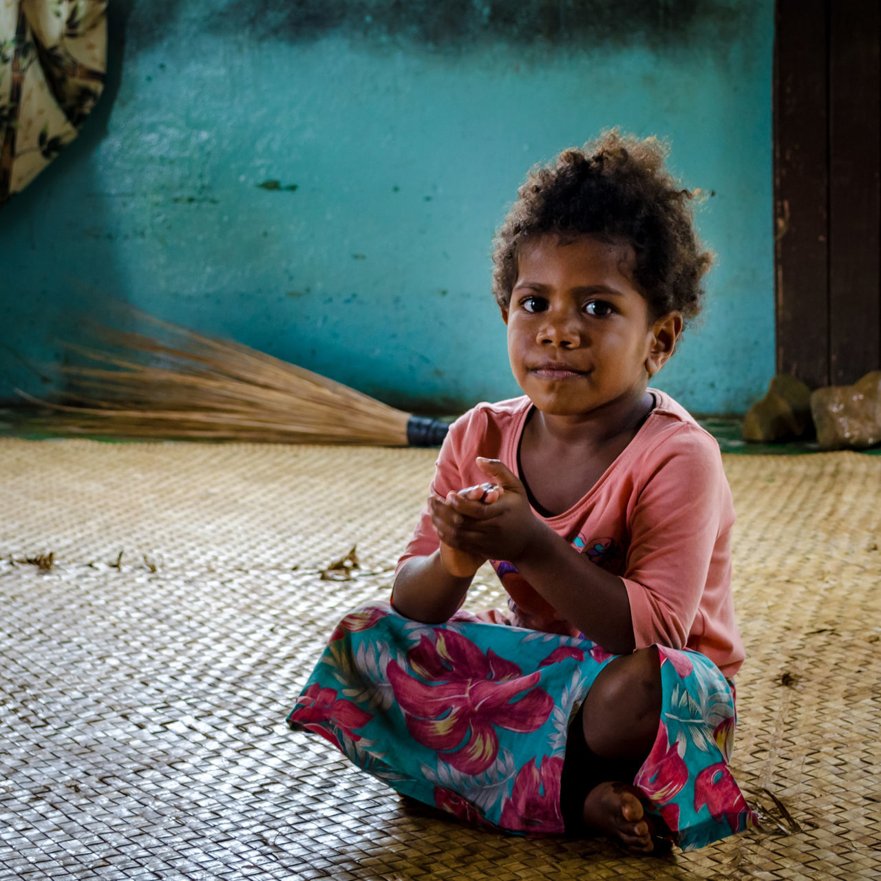 Clap three times Childhood Children Photography Clap Day Fiji Girl Indoors  Kava Kava Ceremony Kid Lifestyles Looking At Camera Nausori Highlands One Person Portrait Real People Sitting The Portraitist - 2017 EyeEm Awards Neon Life