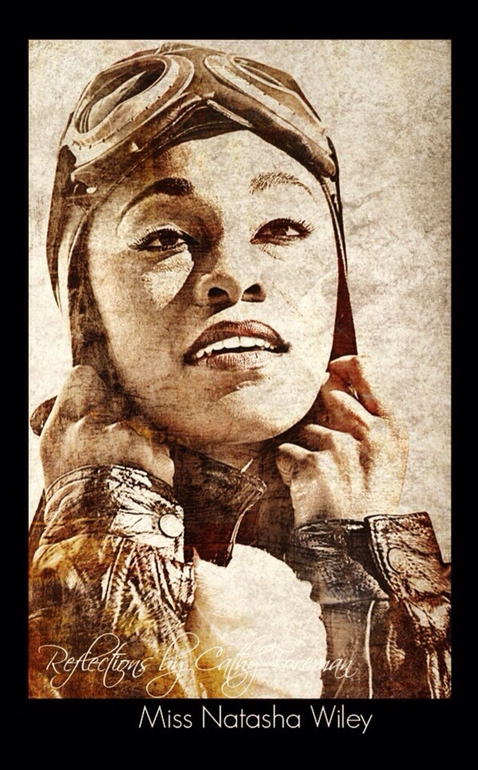 """""""Homage to Miss Bessie Coleman - The First African American Woman Pilot"""" Blackhistory Pilots Photoshoot Eye4photography"""