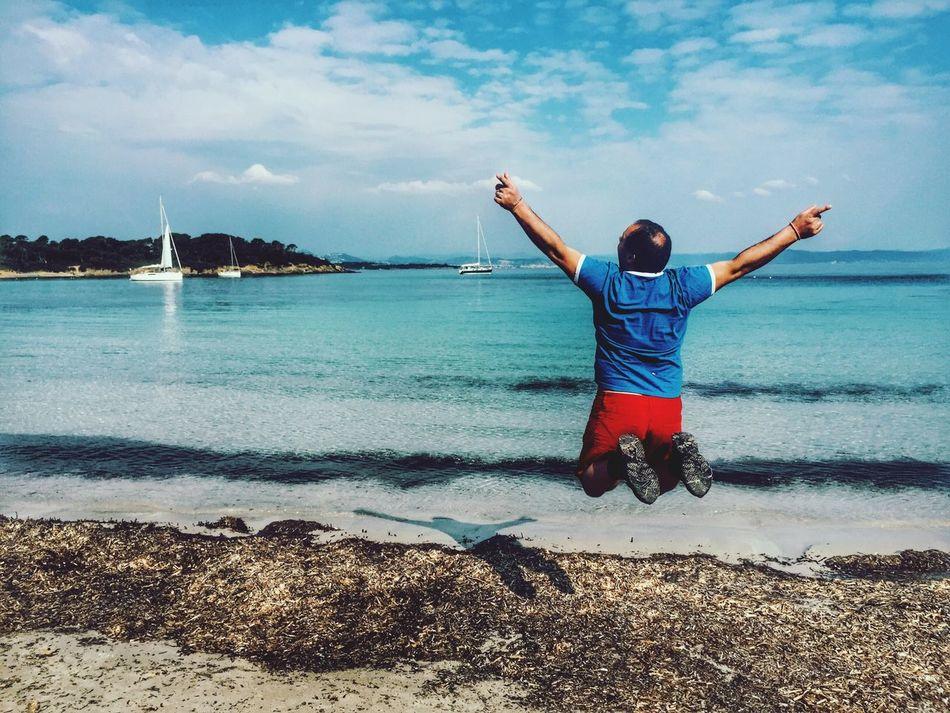 Friday Tgif Happy Jumping Beach Sea Happy People
