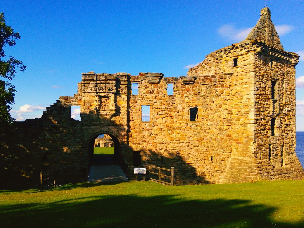 Castle Ruins Against Sky