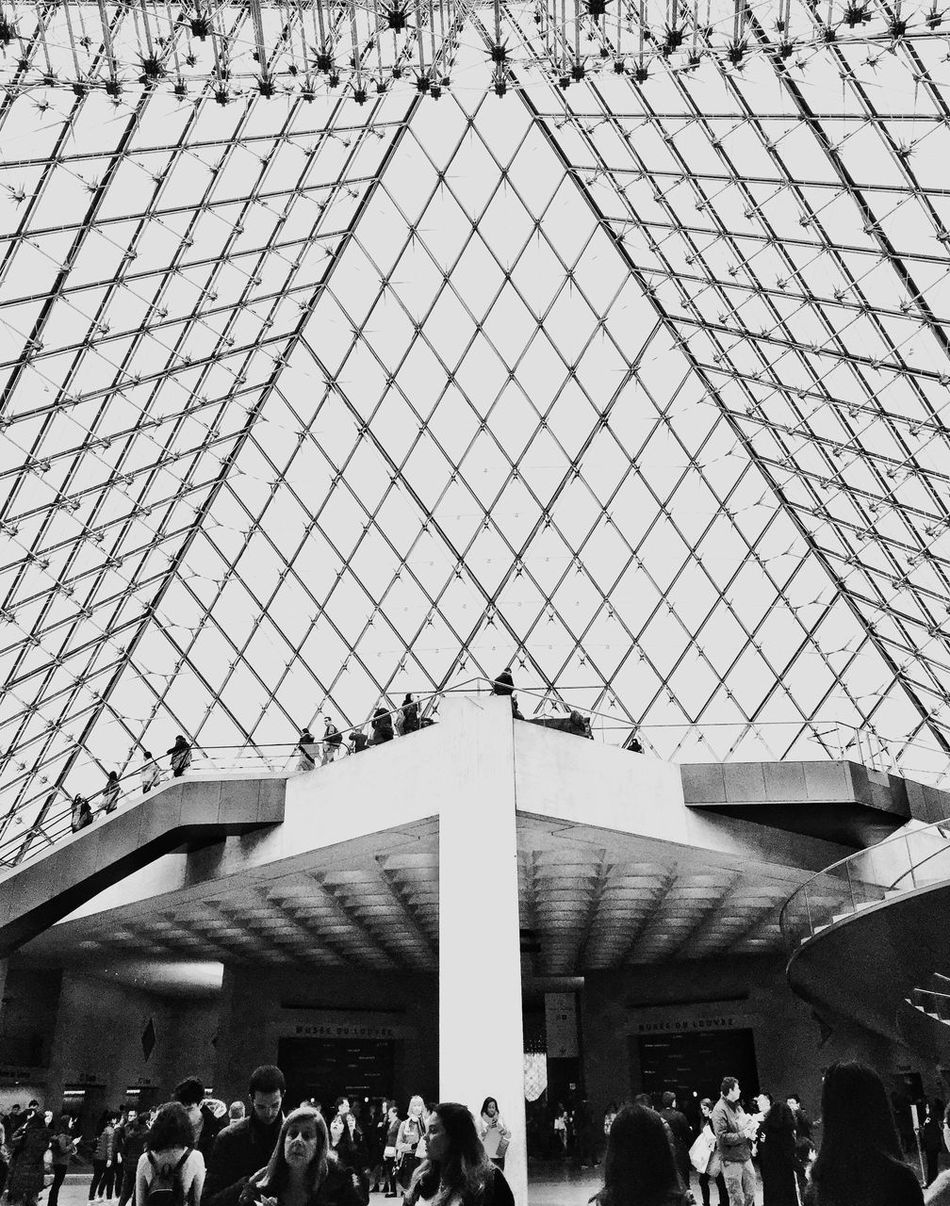 Large Group Of People Built Structure Architecture Real People Indoors  Bnw_friday_eyeemchallenge Museum Time