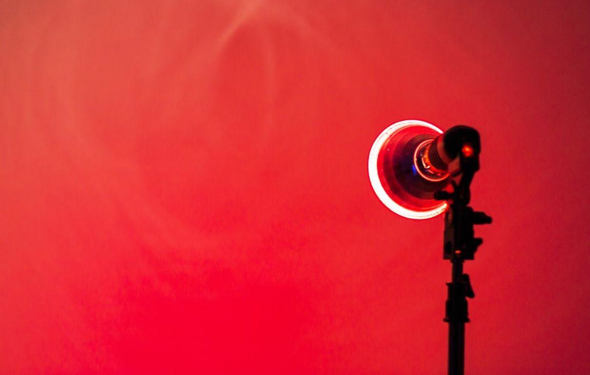 Close-up Copy Space Illuminated Lamp Red Studio Equipment Studio Lights Studio Shot