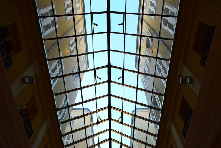 Architectural Design Architecture Built Structure Ceiling Day Indoors  Low Angle View Modern No People Symmetry