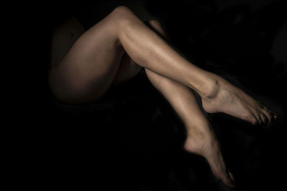 Beautiful stock photos of nude, Colored Background, Dark, Human Body Part, Human Leg
