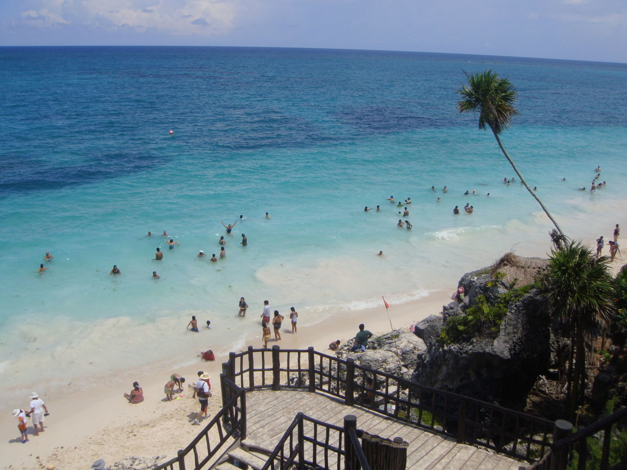 Sea Large Group Of People Beach Water Sky High Angle View Travel Destinations Outdoors Leisure Activity Horizon Over Water Vacations Sand People Tree Nature Adults Only Day Adult Mexico Tulum , Rivera Maya. Tulum Beach Tulum Ruins Tulum, Mexico