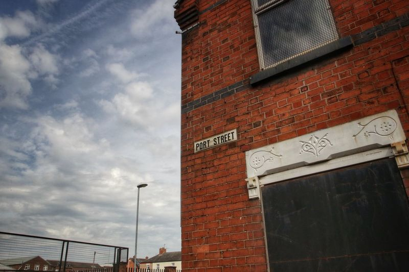 Middleport Pottery Architecture Building Exterior Built Structure City Communication Day Low Angle View Middleport Pottery No People Outdoors Sky Text