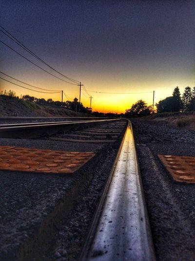 Tracks Railroad Track Rail Transportation Transportation Sunset No People The Way Forward Tranquil Scene Railway Track Sky Nature