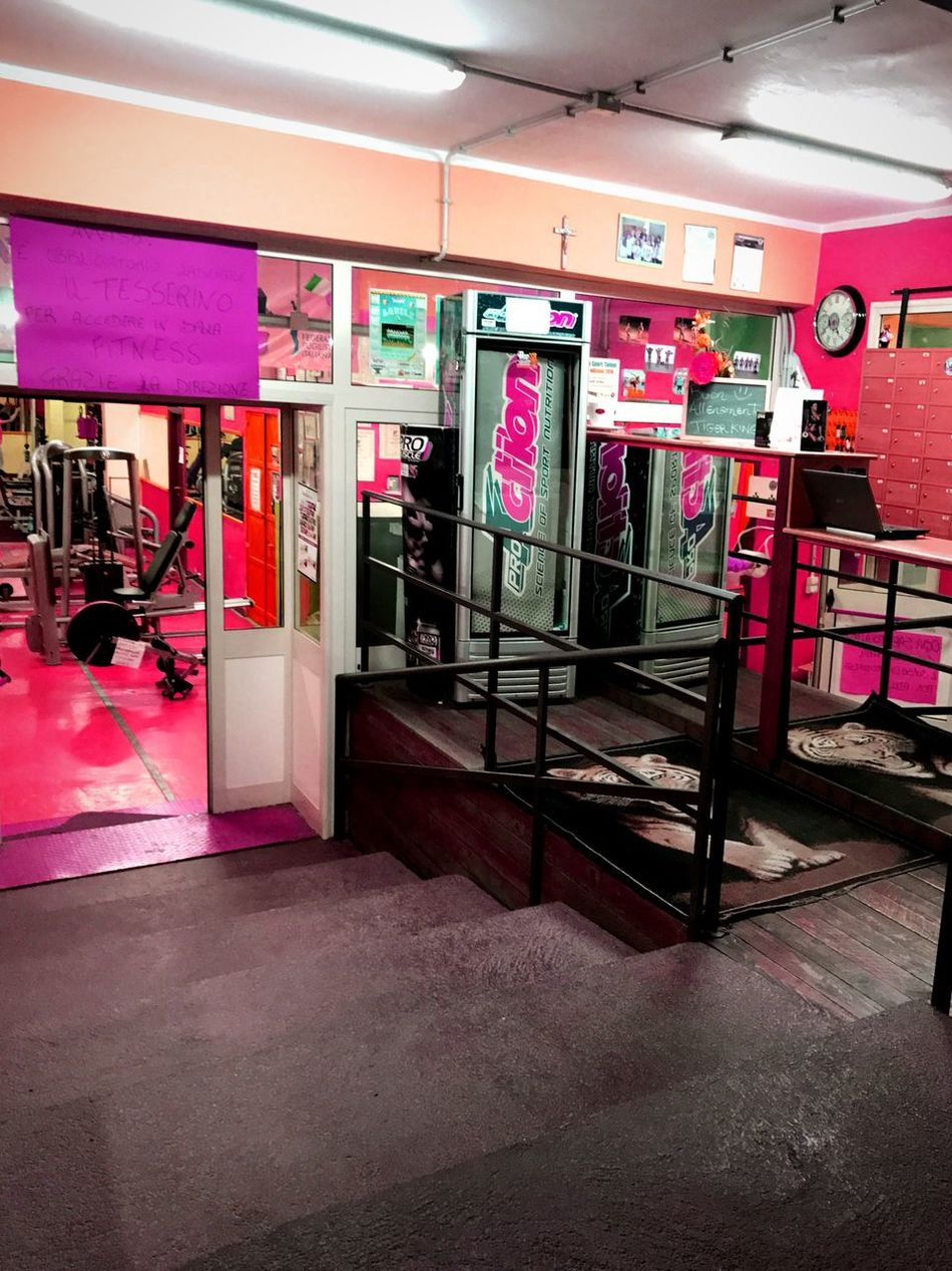 No People Gym Store Entrance Day Pink Millennial Pink Sicilia Palermo Sicily Illuminated City Italy EyeEmNewHere
