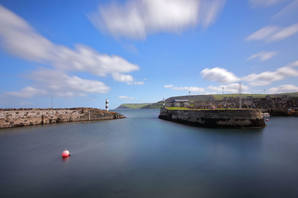 Carnlough Harbour. Some scenes of Braavos in Game of Thrones Season 6 was filmed here. Antrim Architecture Beauty In Nature Braavos Building Exterior Built Structure Carnlough Cloud - Sky Day Filminglocation Gameofthrones Ireland🍀 Long Exposure Longexposure Nature Nautical Vessel No People Northern Ireland Outdoors Scenics Sea Sky Transportation Water
