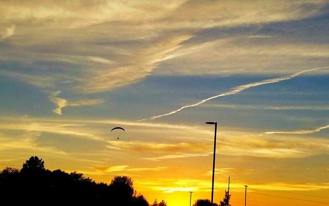 Sunset Tranquil Scene Taking Photos