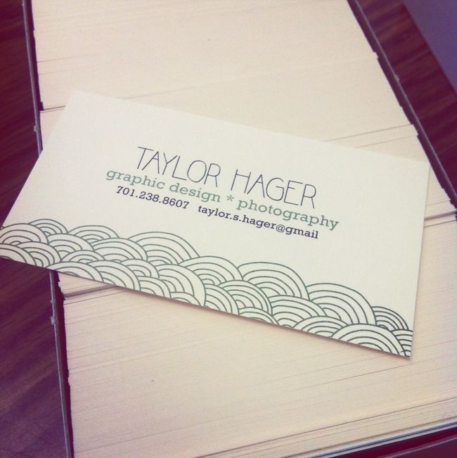 Hot Off The Press!! Business Cards