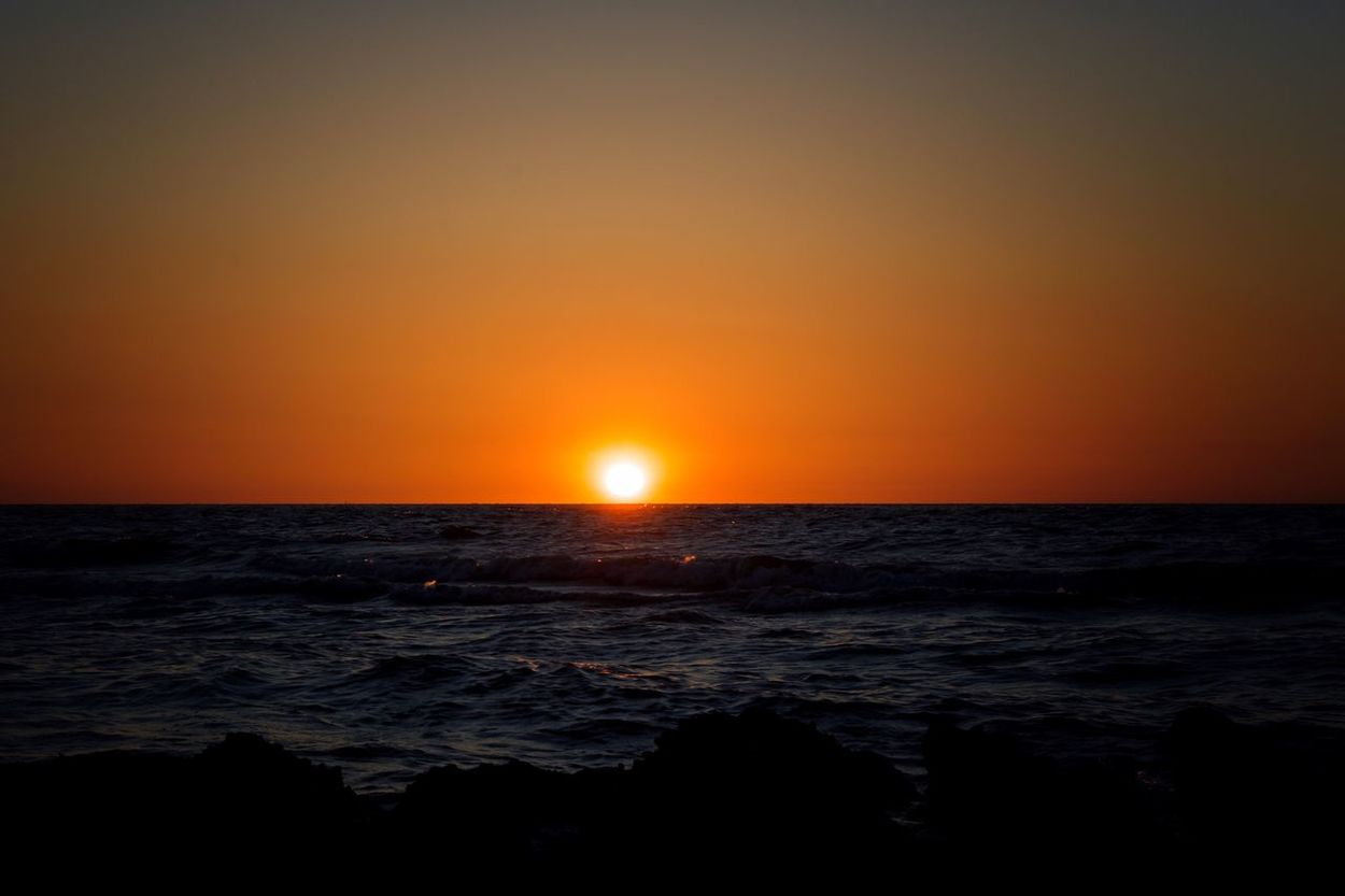 Sunset Beach Sea Sun Day Night Beauty In Nature Romantic Love Beautiful in Koksijde , Belgium