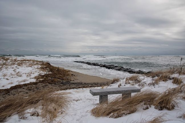 Coastline Stormy Weather Storm Beach Photography Showcase: February Landscape Landscape_Collection Nature Beachphotography Waterfront Waves Ocean Sea Water Beach Water_collection Seaside Weather EyeEm Best Shots EyeEm Nature Lover Nikon D750 Hampton Beach New Hampshire Coast Waves Crashing
