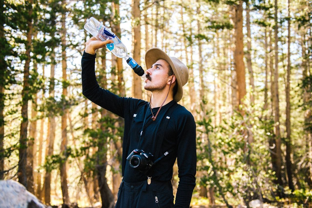 Staying hydrated in the backcountry Adventure Portrait Outdoors Camping Mountains California The Five Senses The Portraitist - 2015 EyeEm Awards