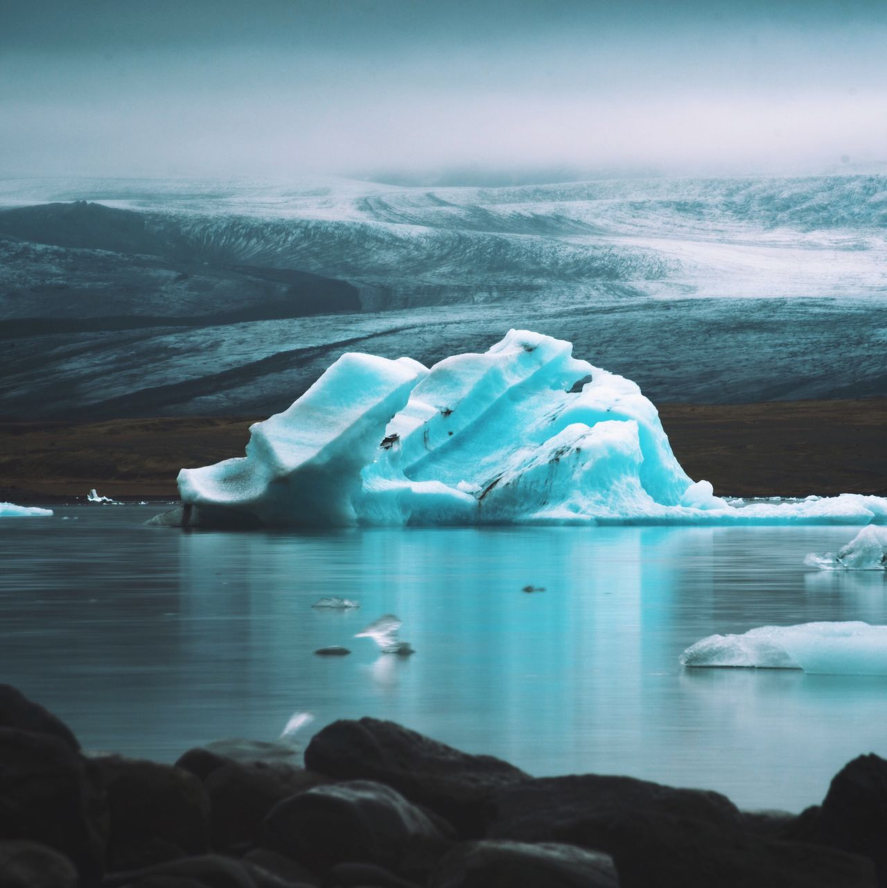 Water Ice Nature Sea Beauty In Nature Scenics Frozen Iceberg Glacier Cold Temperature Tranquility Tranquil Scene Idyllic Melting Winter Sky Outdoors Floating On Water No People Day Landscape Iceland Jökulsárlón