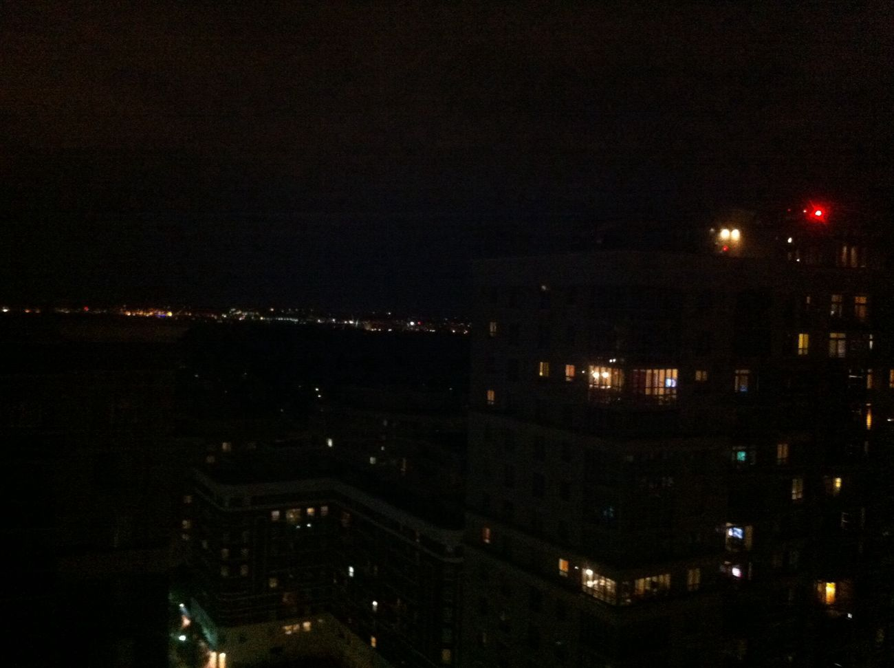 From My Window Night Lights City Horizon